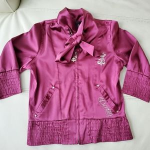 2/40$ Fushia pink House of Déreon satin jacket